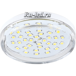 лампа gx53 купить спб и вы получаете возможность сэкономить Ecola Light GX53 LED 8,0W Tablet 220V 2800K 27x75 прозрачное стекло 30000h