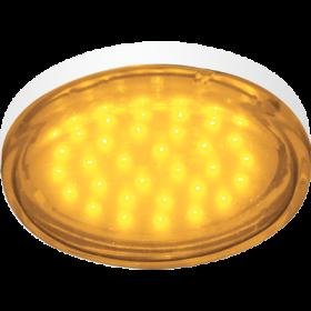 g53 светодиодная лампа настоящая находка для тех, кто хочет оформить интерьер эффектно и со вкусом Ecola GX53 LED color 4,4W Tablet 220V Yellow Желтый (насыщенный цвет) прозрачное стекло 27x74