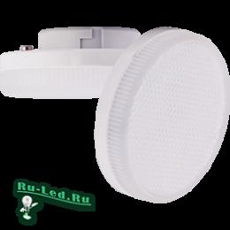 экола gx53 купить для подсветки рабочих поверхностей, гардеробных и витрин магазинов Ecola GX53 LED Premium 6,0W Tablet 220V 6400K матовое стекло (композит) 27x75