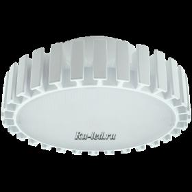 экола gx70 способна производить очень яркий свет Ecola GX70 LED Premium 23,0W Tablet 220V 6400K матовое стекло (фронтальный алюм. радиатор) 42x111
