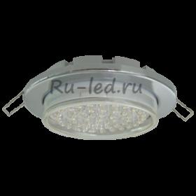 купить потолочный встраиваемый светильник Москве Ecola Light GX53-H6 светильник металл. встраиваемый плоский хром 101x16