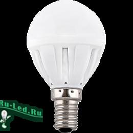 теплые светодиодные лампы купить с внушительной скидкой в интернет-магазине Ecola Light Globe LED 7,0W G45 220V E14 2700K шар (композит) 82x45 (1 из ч/б уп. по 4)