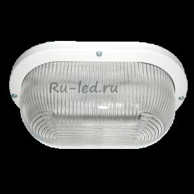 светильники ванной точечные потолочные Ecola Light GX53 LED ДПП 03-9-002 светильник Овал накладной 2*GX53 прозр стекло IP65 белый 280х175х105