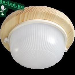 светильник потолочный светодиодный gx53 обрел невероятную популярность Ecola GX53 LED НБО-03-60-011 светильник Круг накладной IP65 дерево Клен 1*GX53 матовый 220х84