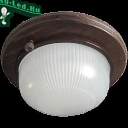 купить экола gx53 любителям эстетического подхода к оформлению освещения Ecola GX53 LED НБО-03-60-021 светильник Круг накладной IP65 дерево Орех 1*GX53 матовый 220х84