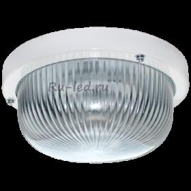 светильник gx53 влагозащищенный Ecola Light GX53 LED ДПП 03-7-001 светильник Круг накладной 1*GX53 прозр. стекло IP65 белый 185х185х85
