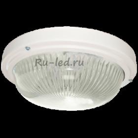 точечные светильники для ванны Ecola Light GX53 LED ДПП 03-18-003 светильник Круг накладной 3*GX53 прозр стекло IP65 белый 280х280х90