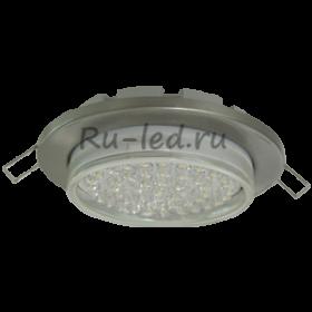 встраиваемые светильники ламп gx53 Ecola Light GX53-H6 светильник металл. встраиваемый плоский сатин-хром 101x16