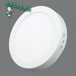 купить светильник круглый, что позволят создать комфортные условия для работы, учебы, отдыха и детских игр 702R-18W-3000K Светильник накладной,круглый,LED,18W