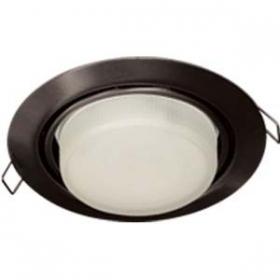 Купить светильники потолочные недорого Ecola GX53 FT9073 светильник встраиваемый поворотный черный хром 40x120
