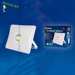 прожектор белого света гарантируется работоспособность прожектора ULF-F11-50W/DW IP65 180-240В WHITE картон