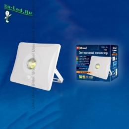 Прожектор светодиодный недорого влагозащищенный и оснащенный датчиком движения ULF-F31-10W/DW SENSOR IP65 100-265В WHITE картон