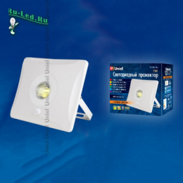 Описание прожектора следует, что эксплуатировать его можно в самых различных условиях ULF-F31-30W/DW SENSOR IP65 100-265В WHITE картон