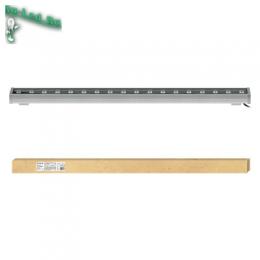 светодиодный прожектор для дачи, установки во дворе частного дома ULF-Q552 18W/WW IP65 SILVER картон
