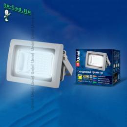 прожектор светодиодный led цена отличается от аналогов сверх-долгим сроком службы в целых 50 000 часов ULF-S04-10W/DW IP65 85-265В GREY картон