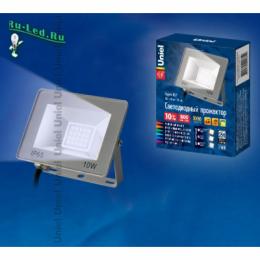 светильники на фасад здания способны преобразить внешний облик дома ULF-F15-10W/NW IP65 185-240В SILVER