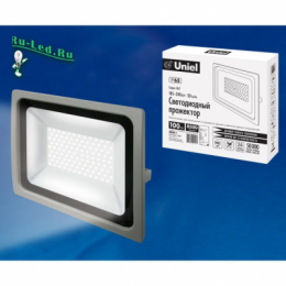 прожектор светодиодный led 100w для любых уличных объектов ULF-F16-100W/NW IP65 185-240В SILVER