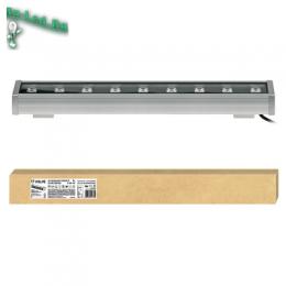 Освещение диодные прожекторы рекомендовано для производственных цехов ULF-Q552 9W/WW IP65 SILVER картон