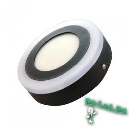 Точечные светильники светодиодные 220в для тех, кто ценит не только высокое качество, но также стильный и оригинальный дизайн 500-RD-6+3 Светильник накладной LED