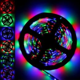 яркая светодиодная лента 220 вольт поможет сделать ваш интерьер особенным Ecola LED strip 220V STD 14,4W/m IP68 14x7 60Led/m RGB разноцветная лента на катушке 10м
