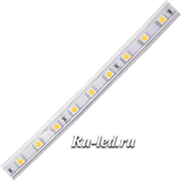 светодиодные ленты smd 5050 60 220V STD 14,4W/m IP68 14x7 60Led/m 4200K 12Lm/LED 720Lm/m лента 20м