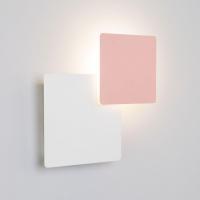 Настенный светодиодный светильник Eurosvet Screw 40136/1 белый/розовый