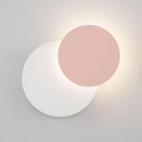 Настенный светодиодный светильник Eurosvet Figure 40135/1 белый/розовый