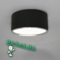 544-Тр-7W-4000K Светильник LED накладной круглый черный