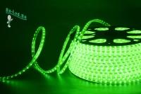 Ecola LED strip 220V STD  4,8W/m IP68 12x7 60Led/m Green зеленая лента на катушке  50м.