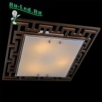 Потолочный светильник Eurosvet 2870/3 хром/венге
