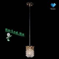 Подвесной светильник Eurosvet 3121/1 золото/прозрачный хрусталь Strotskis