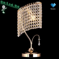 Хрустальная настольная лампа 3122/1 золото Strotskis настольная лампа