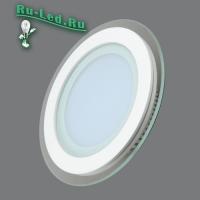 705R-12W-4000K Светильник встраиваемый,круглый,со стеклом,LED,12W