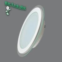 705R-18W-3000K Светильник встраиваемый,круглый,со стеклом,LED,18W