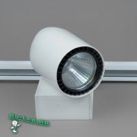 04-30W LED COB 6000K (WH) Трековый светильник Черный круг