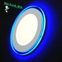 701R-14W-4000K Светильник встраиваемый,круглый,со стеклом,LED-подсветка,14W