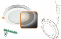 Ecola LED downlight встраив. Круглый даунлайт со стеклом и подсветкой с драйвером  9W 220V 6500K 120x35