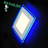 светильник led квадратный отличный выбор для тех, кто ценит высокое качество 701SQ-18W-6000K Светильник встраиваемый,квадратный,со стеклом,LED-подсветка,18W