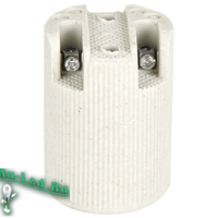 Ecola base Патрон керамический E14 Белый