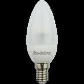 Ecola candle   LED  4,2W 220V E14 4000K полуматовая свеча искристая пирамида 98x36