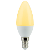 Ecola candle   LED 6,0W 220V E14 золотистая свеча (композит) 101x37