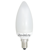 Ecola candle 11W EIC/M 220V E14 6400K свеча 112x38 УВВ