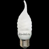 Ecola candle  9W DEA/FTF 220V E27 4100K витая матовая свеча на ветру 125х39