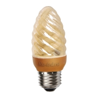 Ecola candle  9W DEA/CTG 220V E27 витая золотистая свеча  98х38
