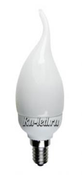 Ecola candle  9W EIC/DN 220V E14 4100K свеча на ветру 130x40