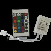 Ecola LED strip RGB IR controller 12A 144W 12V (288W 24V) с инфракрасным пультом управления