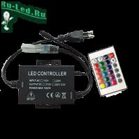 Ecola LED strip 220V RGB IR controller (IP20) 1500W 6,6A для ленты 220V 16x8 IP68 с инфракрасным пультом