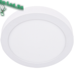 светильник светодиодный круглый накладной - высокий уровень комфортности Ecola LED downlight накладной Круглый даунлайт с драйвером 18W 220V 6500K 220x32