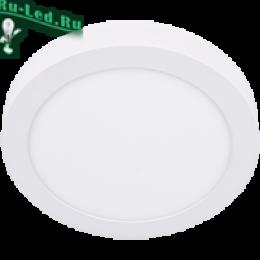 светильники светодиодные потолочные накладные круглые отличаются высоким качеством, а также стильным и эргономичным внешним видом  Ecola LED downlight накладной Круглый даунлайт с драйвером 18W 220V 4200K 220x32