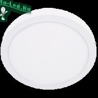 Ecola LED downlight накладной Круглый даунлайт с драйвером 24W 220V 6500K 300x32